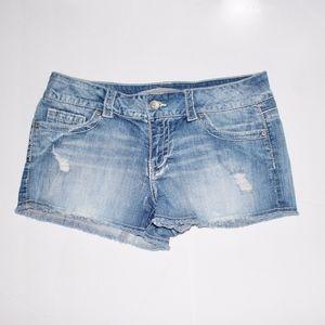 Refuge Distressed Jean Shorts Size 13